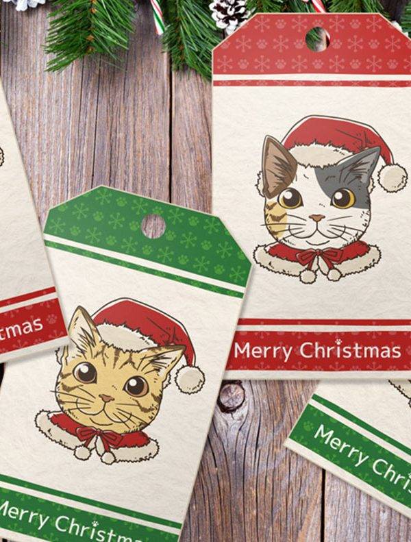 10 Printable Christmas Gift Tags for Cat Lovers