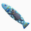 Fish Shaped Black Cat Toy with Silvervine