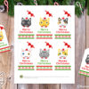 6 Cute Cats Faces Christmas Gift Tags