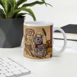 Baguette & Tabby Cat Coffee Mug