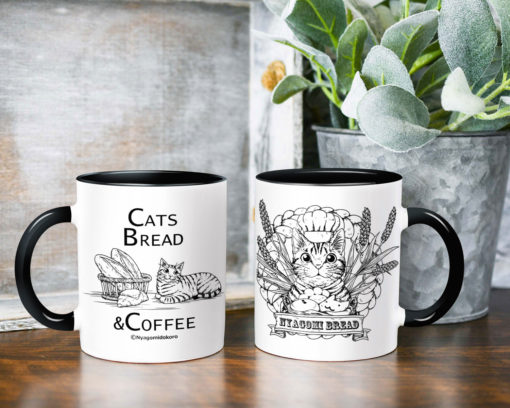 Cat Bread & Tabby Cat Coffee Mug