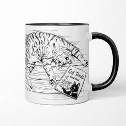 Cats, Book & Coffee Mug