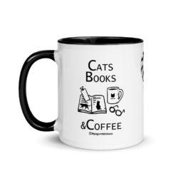 Cats, Book & Coffee Mug