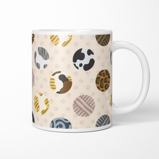 Cat fur pattern coffee mug