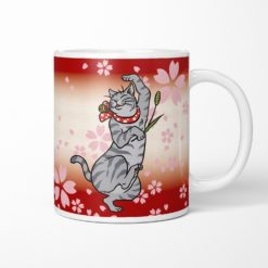 Sakura & Tabby Cat Coffee Mug