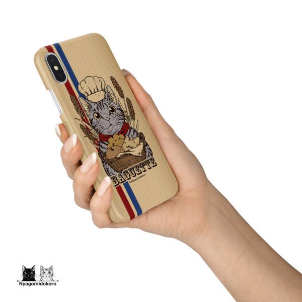 サバトラ猫と猫パンのiPhoneケース