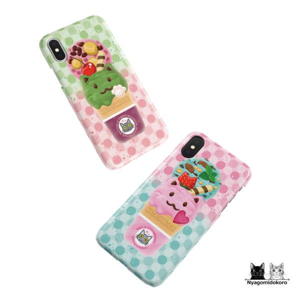 猫アイスのiPhoneケース