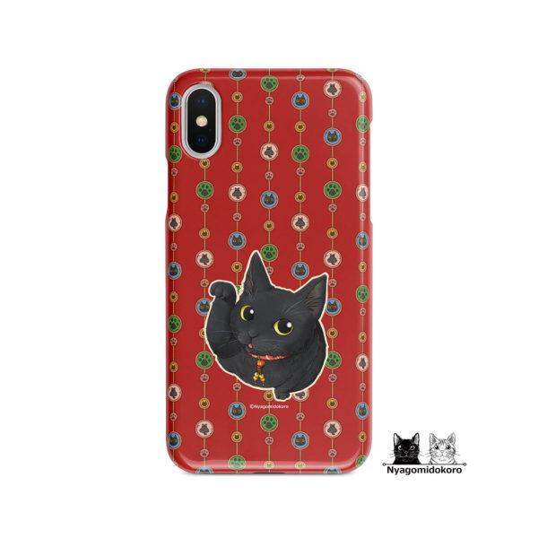 黒招き猫 iPhoneケース