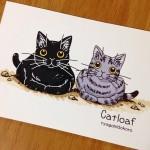 """Postcard """"Catloaf"""""""