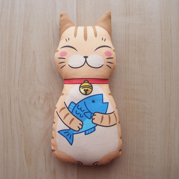 またたびのおもちゃ猫キッカー 茶トラ猫