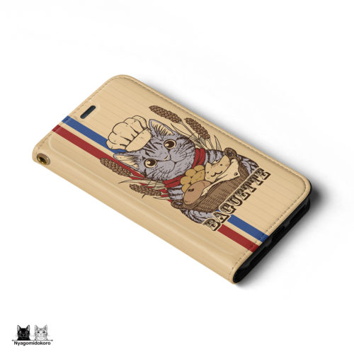 iPhone 手帳型ケース 猫パンとサバトラ猫
