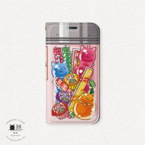 iPhone 手帳型ケース 駄菓子ゼリー